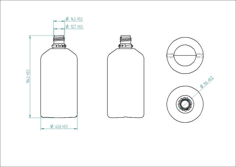 Butelka 100ml z plombą
